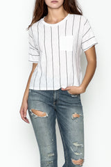 Pinstripe Pocket Tee