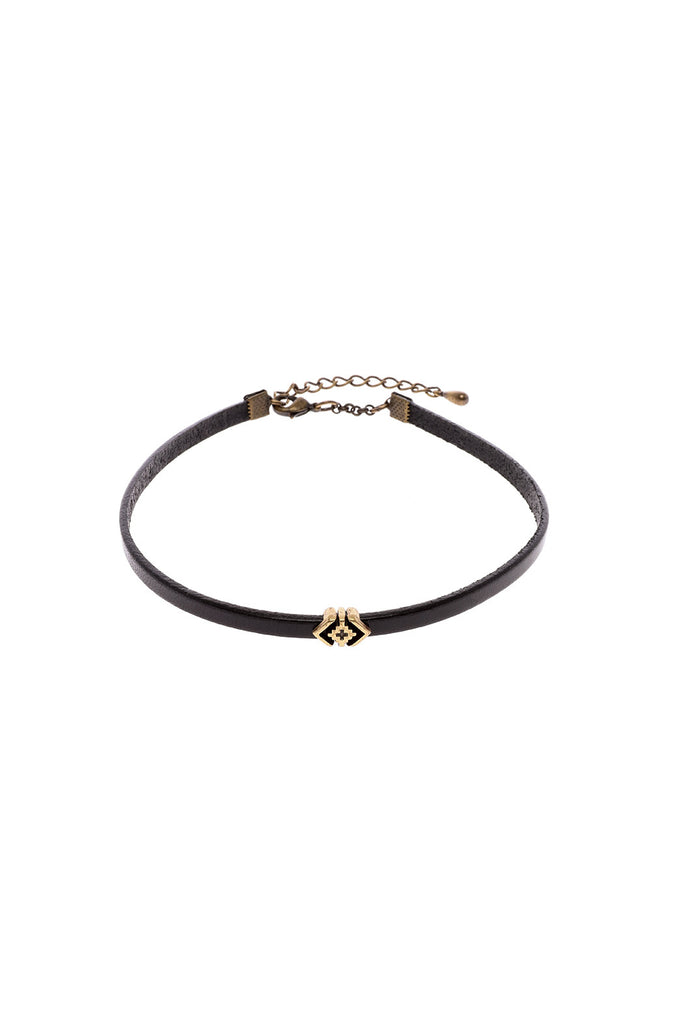 Leather Antiquated Arrow Choker