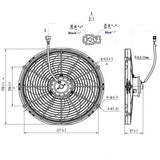 "16"" Universal 12V 14W Slim Electric Radiator Fan"