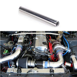 2 X aluminium straight intercooler piping