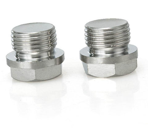 2 X JDM 18mm stainless steel o2 sensor port plugs