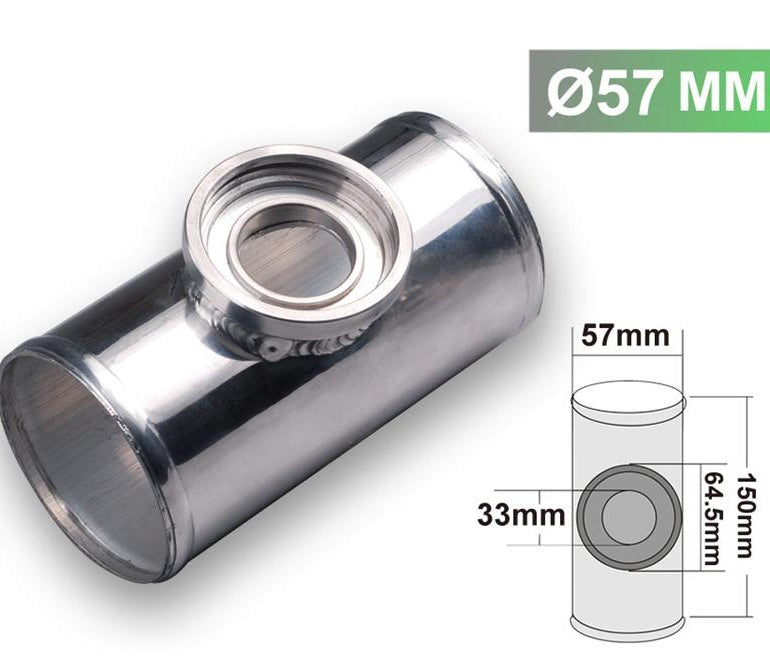 "57MM 2.25"" Aluminum flange pipe for HKS SSQV/SQV BOV"