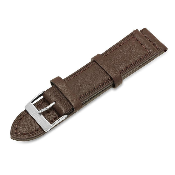 22mm Brown genuine leather strap
