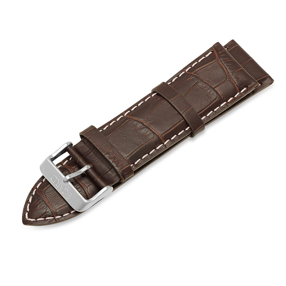 24mm Brown genuine leather strap