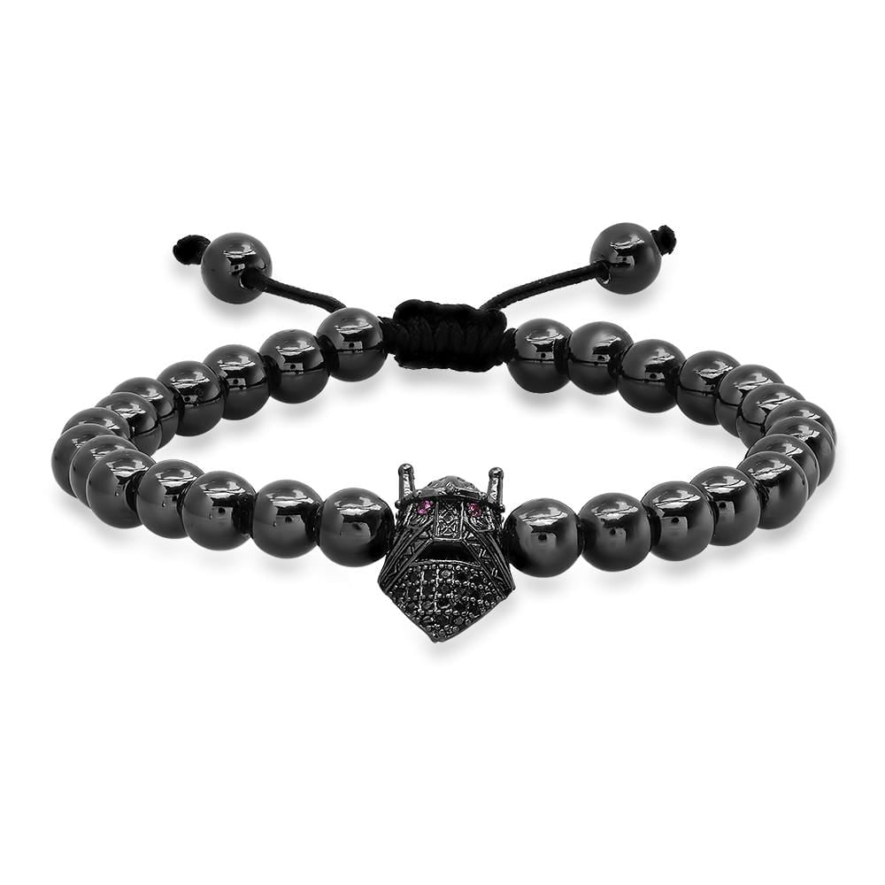 Black Beaded Gladiator Bracelet