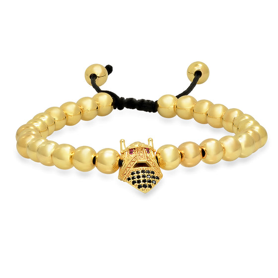 Gold Beaded Gladiator Bracelet