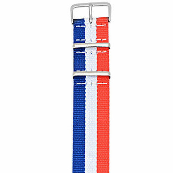 Red White Blue Nato Strap - Builder