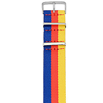 Red Yellow Blue Nato Strap