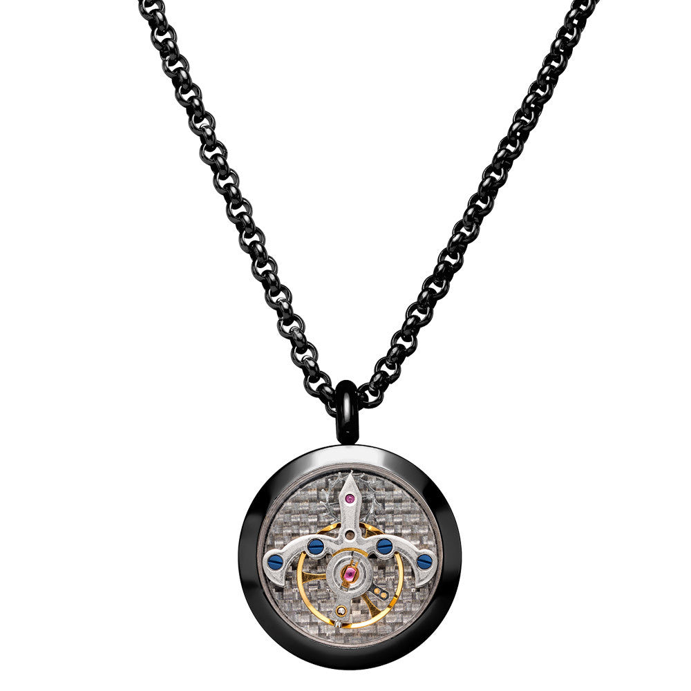 Tourbillon Necklace Black