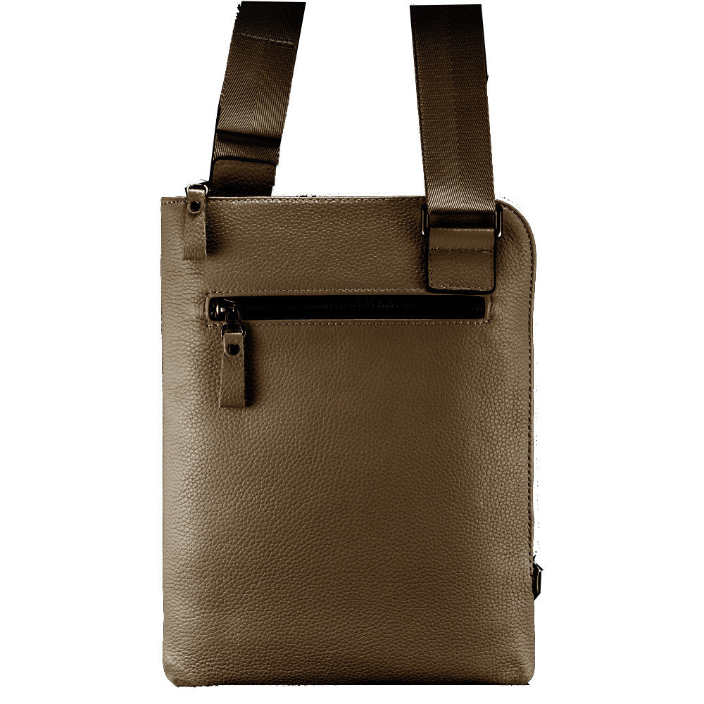 Mustard Brown Leather Tablet Bag