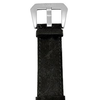 Worn Black Leather Strap - Builder