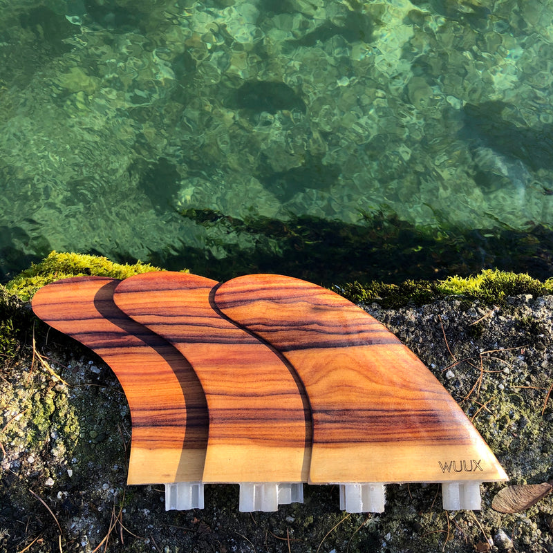 Thruster Fin Set FCS - Rosewood