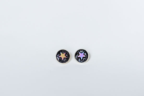 Star & moon statement studs