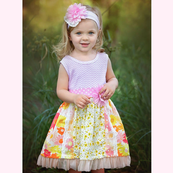 HAUTE BABY<br>ANNA ELISE GIRLS TWIRLY DRESS