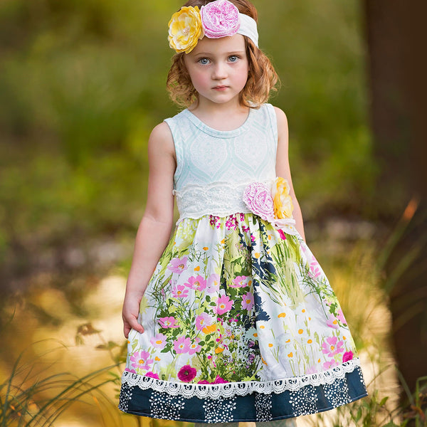 HAUTE BABY<br>KAYLEE'S BOUQUET GIRLS DRESS