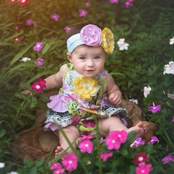 HAUTE BABY<br>KAYLEE'S BOUQUET GIRLS SUNSUIT
