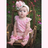 HAUTE BABY<br>PEACH BLOSSOM GIRLS PEASANT SET