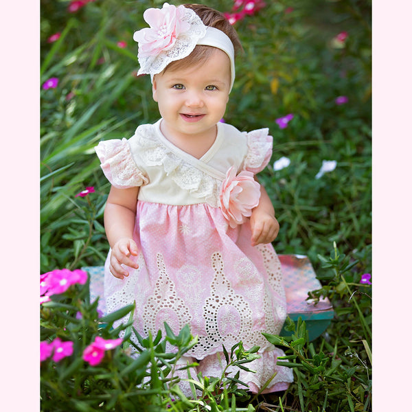 HAUTE BABY<br>PEACH BLOSSOM GIRLS SWING SET