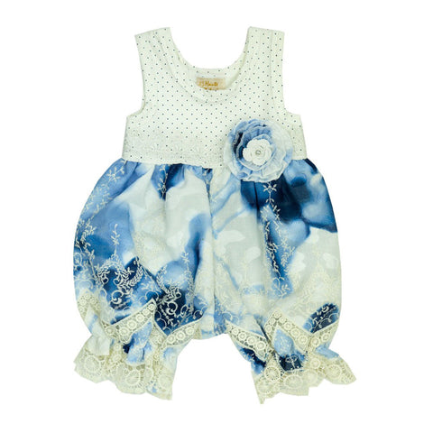 HAUTE BABY<br>SUMMER SONG GIRLS BUBBLE ROMPER