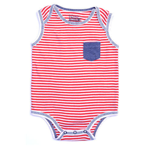 Kapital K Red Stripe Rib Bodysuit