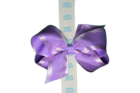 Wee Ones<br> Medium OMG Bow with Color Ribbon Edge