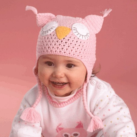 Zubels <br>Owl Ear Flap Hat – Pink