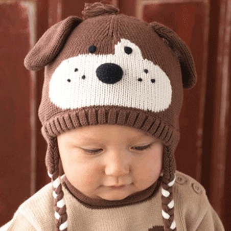 Zubels <br>Brown Dog Ear Flap Hat