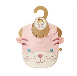 Zubels <br>Pink Cat Face Bib