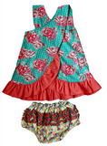 Flit and Flitter <br>Katie Criss Cross Dress with Bloomers