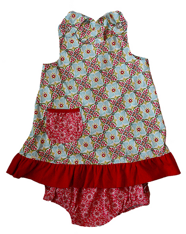 Flit and Flitter <br>Alayna Criss Cross Dress with Bloomers