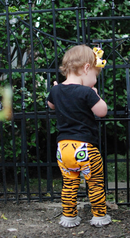Doodle Pants <br>Orange Tiger Leggings