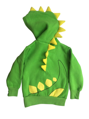 Doodle Pants Green Dino Hoodie With Horns