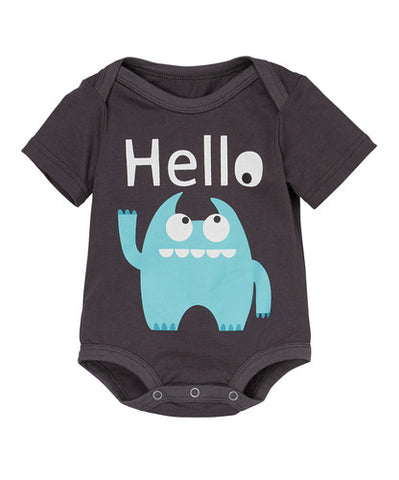 Doodle Pants Blue Monster 'Hello' Bodysuit