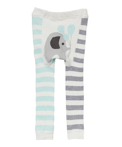 Doodle Pants Blue Elephant Balloon Stripes