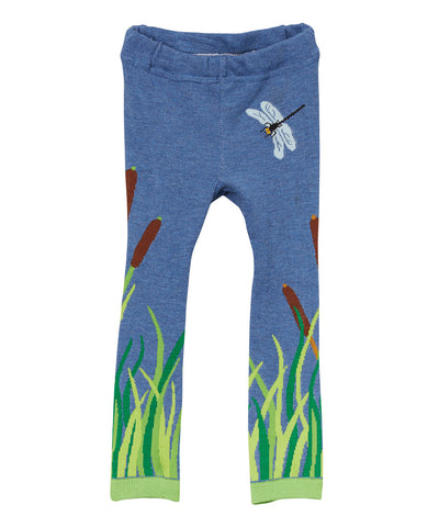 Doodle Pants Blue Alligator Leggings