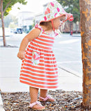 Ruffle Butts Sweet Stems Coral Stripe Dress