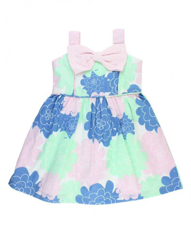 Ruffle Butts Pastel Petals Fit & Flare Bow Dress