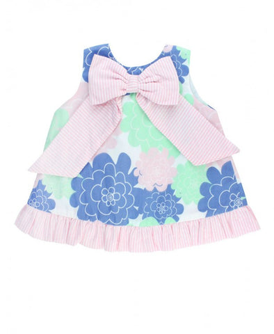 Ruffle Butts Pastel Petals Bow-Front Swing Top