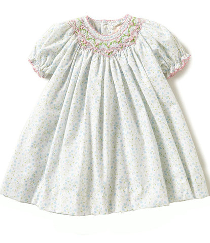 Petit Ami <br>Floral-Printed Smocked Pleated Dress