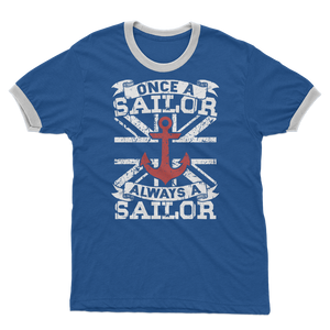 Once A Sailor Always A Sailor Adult Ringer T-Shirt