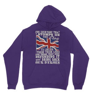 Don't Stomp On This Flag Classic Adult Hoodie