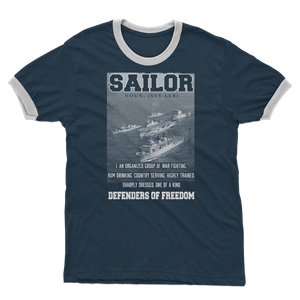Sailors - Defenders Of Freedom Adult Ringer T-Shirt