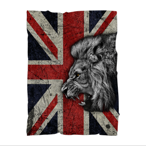 British Lion All Over Printed Sublimation Throw Blanket