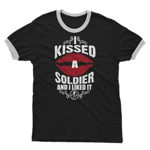 I Kissed A Soldier And I Liked It Adult Ringer T-Shirt