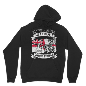 I Drink Rum So I Don't Choke People Classic Adult Hoodie
