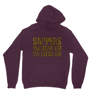 Sappers - You Fear 'Em We Clear 'Em Classic Adult Hoodie