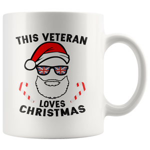 This Veteran Loves Christmas - White 11oz Mug