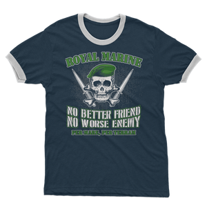 Royal Marine - No Better Friend, No Worse Enemy Adult Ringer T-Shirt