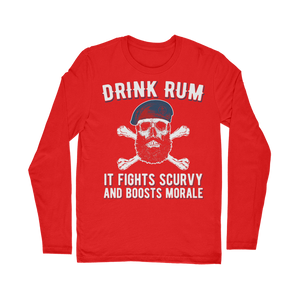 Drink Rum - It Fights Scurvy And Boosts Morale Classic Long Sleeve T-Shirt