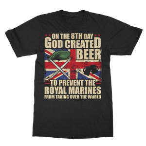 Royal Marines Love Beer Classic Adult T-Shirt